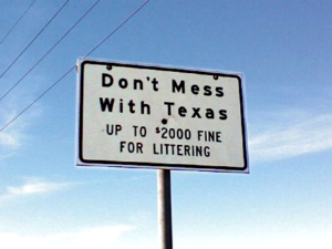 Photo of Don't Mess with Texas Sign