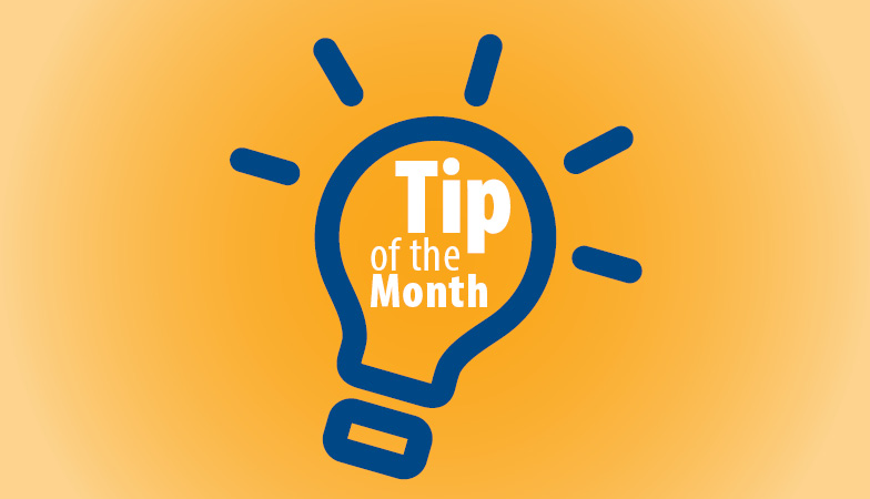 Tip of the Month header graphic