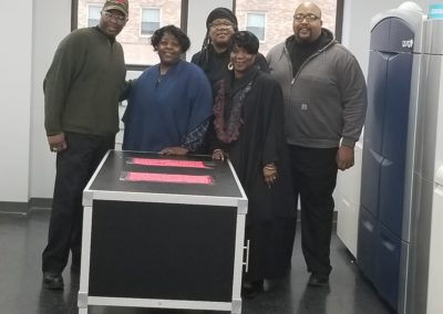 From left to right David Muhammad, Jewel Daniels, Daphne Turner, Edwina Smallwood and Christopher Redwood