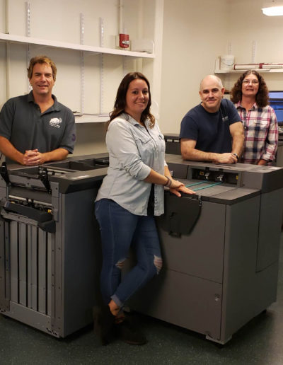 Rod Squier - Manager, Jennifer Kendall – Print, Bindery & Mailing Tech, Robert Kleindienst – Print Production Tech, Patricia Connelly – Mail Svcs Spec